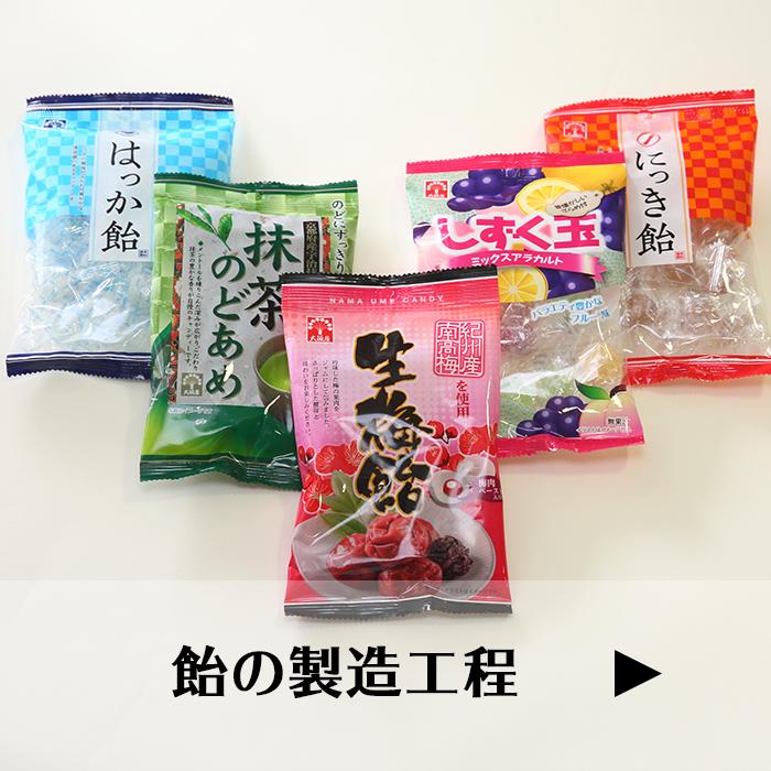 飴・キャンディーの製造工程